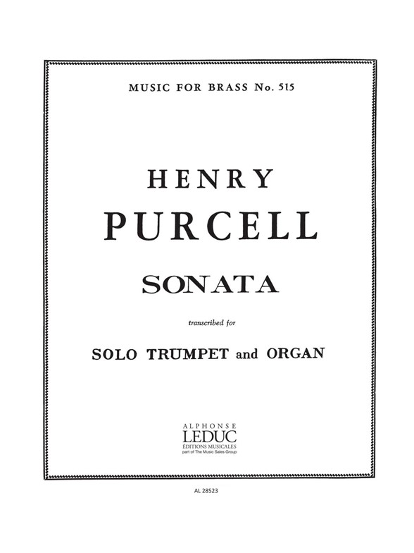 Henry Purcell: Sonata For Trumpet And Organ: Trumpet: Instrumental Work