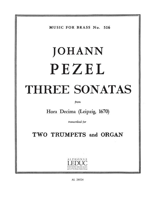 Pezel: 3 Sonatas-25-22-30Hora Decima: Trumpet Duet: Score