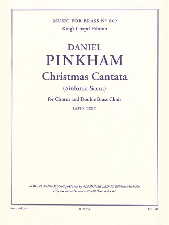 Pinkham: Christmas Cantata: Brass Ensemble: Score and Parts