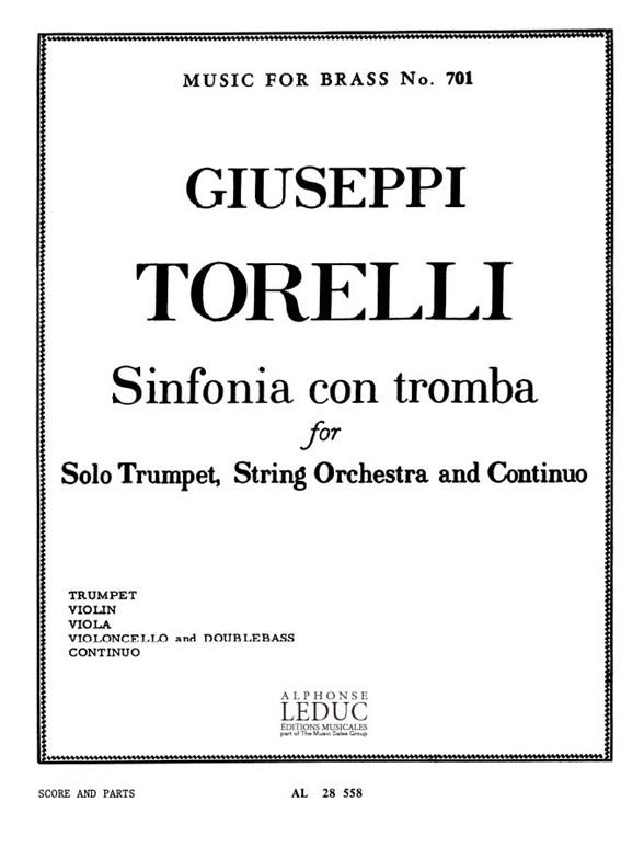 Giuseppe Torelli: Sinfonia con Tromba: Ensemble: Score and Parts