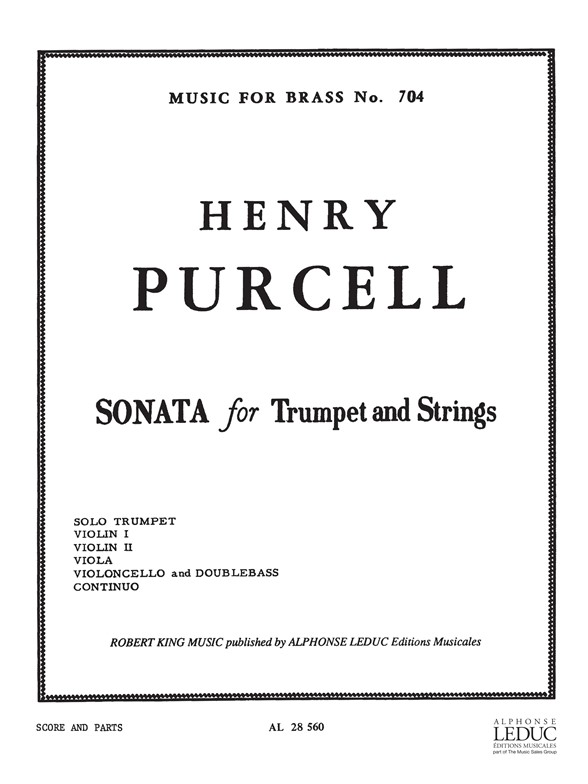 Henry Purcell: Sonata For Trumpet And Strings: Ensemble: Score and Parts
