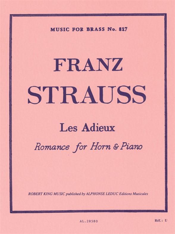 Strauss: Adieux: French Horn: Instrumental Work