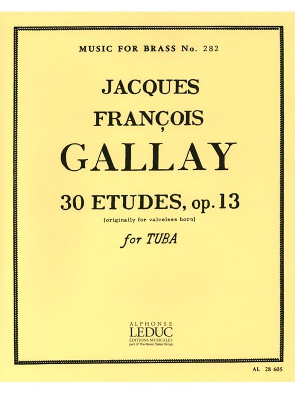 Jacques-François Gallay: 30 Studies Op13: Tuba: Study