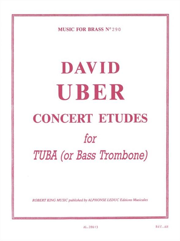 David Uber: Concert Etudes: Bass Trombone: Study