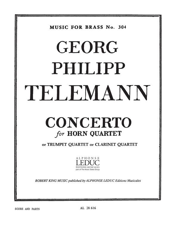 Georg Philipp Telemann: Concerto: Horn Ensemble: Score and Parts