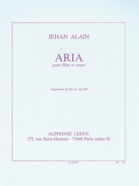 J. Alain: Aria: Mixed Duet: Instrumental Work