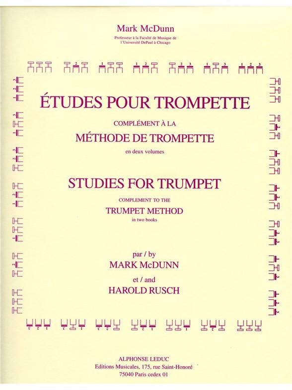 Mark McDunn Harold Rusch: Etudes pour Trompette: Trumpet: Score