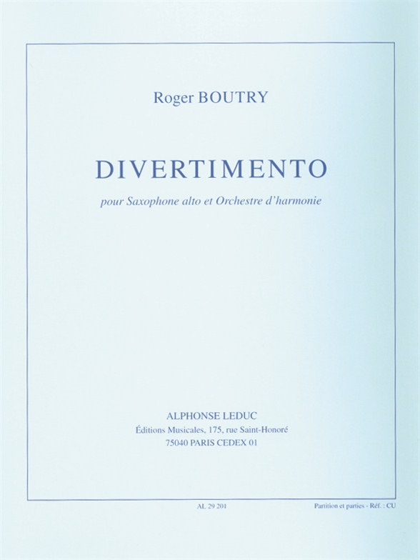 Roger Boutry: Divertimento: Concert Band: Score and Parts