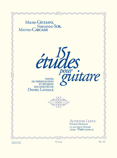 15 Etudes: Guitar: Score
