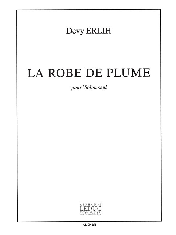 Erlih: Robe De Plume: Violin: Score