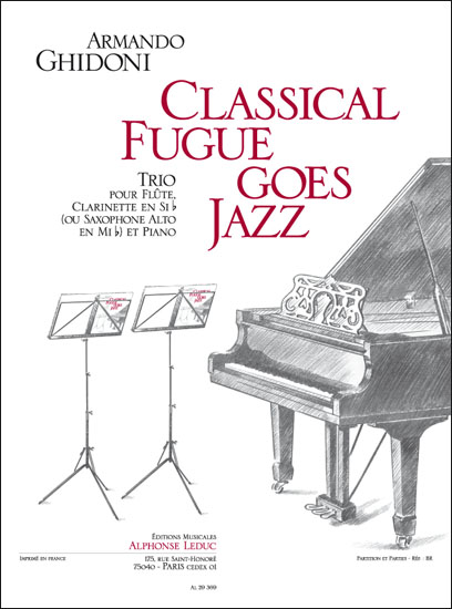 Armando Ghidoni: Classical Fugue Goes Jazz: Woodwind Ensemble: Score and Parts