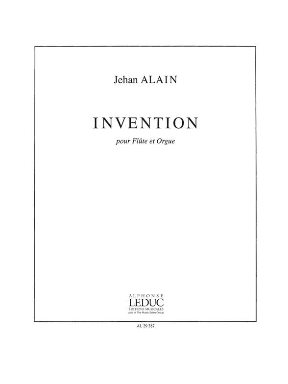 J. Alain: Invention: Flute: Score
