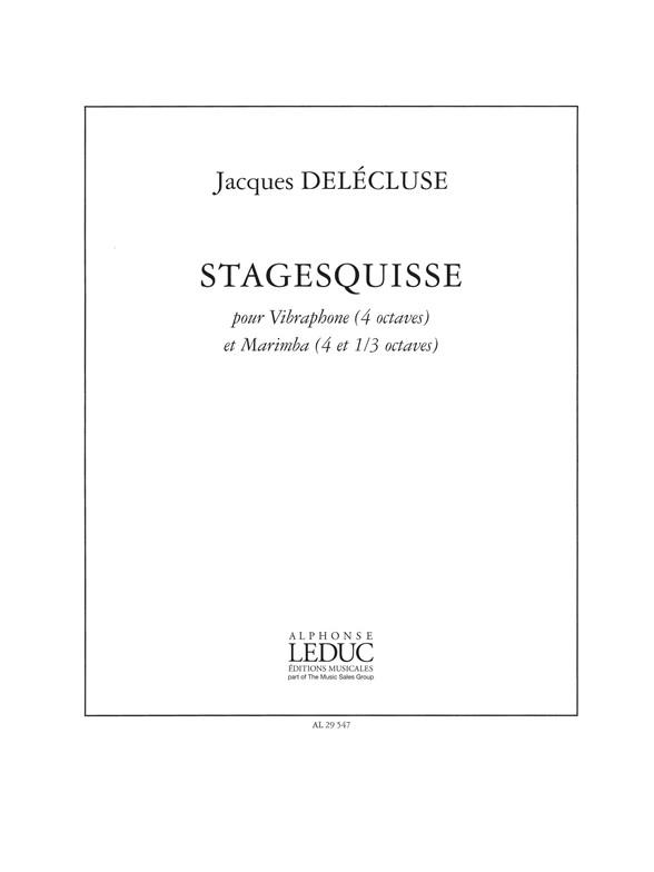 Jacques Delécluse: Stagesquisse: Percussion Duet: Score