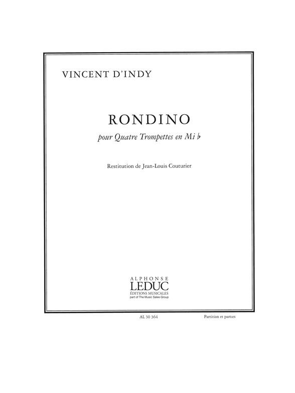 Vincent d'Indy: Indy Vincent D Rondino 4 Trumpets In E Flat: Trumpet: