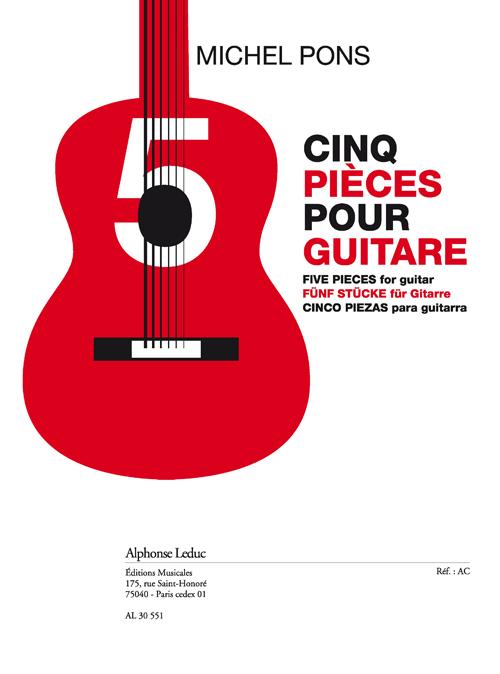 Pons: Cinq pièces (11'30'') pour guitare: Guitar: Instrumental Album