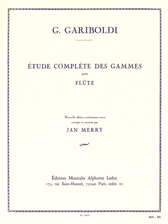 Giuseppe Gariboldi: Complete Study of Scales for Flûte