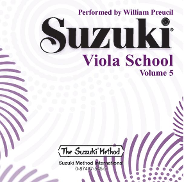 Suzuki Viola School CD  Volume 5 (Revised): Viola: Recorded Performance