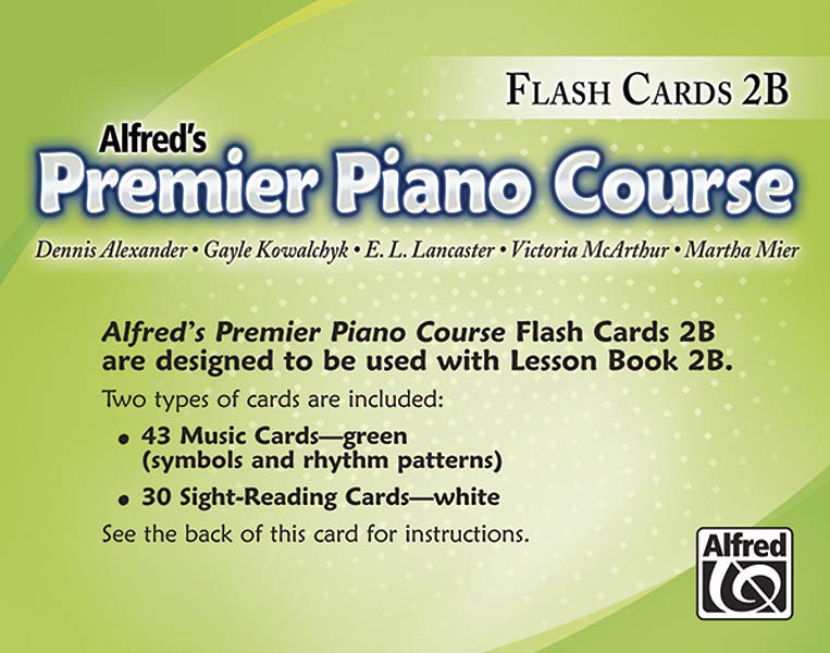 Alfred's Premier Piano Course Lesson 2B Flashcards: Theory