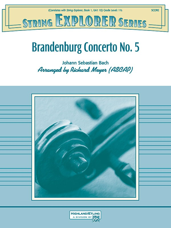 Johann Sebastian Bach: Brandenburg Concerto No 5: String Orchestra