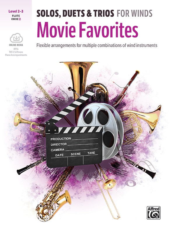 Solos  Duets & Trios for Winds: Movie Favorites: Flute: Instrumental Collection