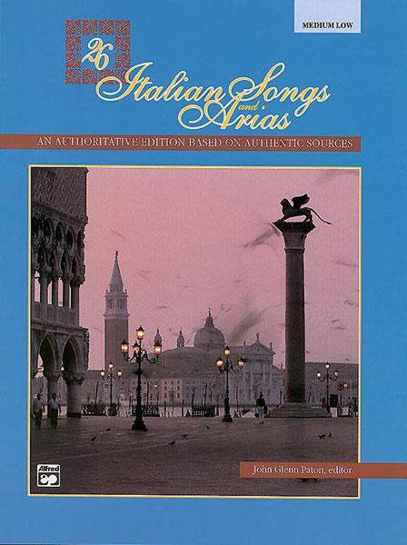 26 Italian Songs and Arias: Medium Voice: Backing Tracks