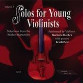 Solos for Young Violinists CD  Volume 3: Violin: Instrumental Tutor