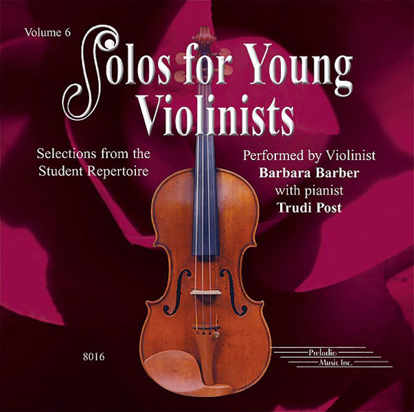 Solos for Young Violinists CD  Volume 6: Violin: Backing Tracks