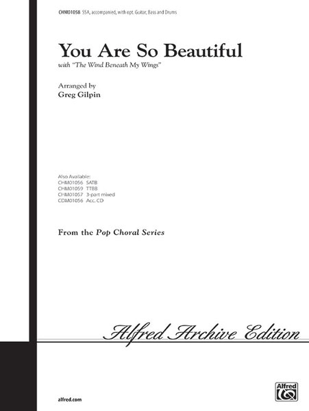 You Are So Beautiful: SSA: Vocal Score