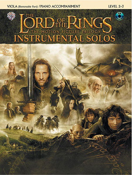 The Lord of the Rings Instrumental Solos: Viola (book and CD)