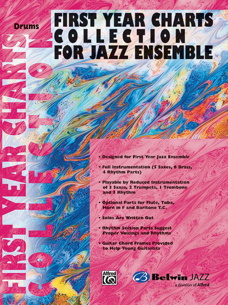 First Year Charts Collection for Jazz Ensemble: Drum Kit: Instrumental Album