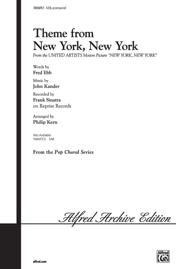 John Kander: New York  New York  Theme from: SATB: Vocal Score