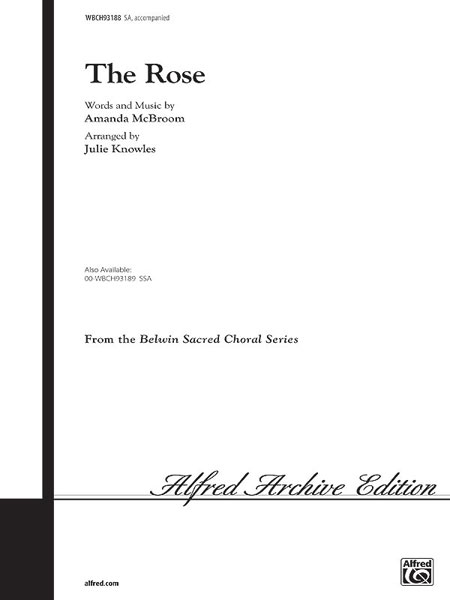 Amanda McBroom: The Rose (Knowles): 2-Part Choir: Vocal Score