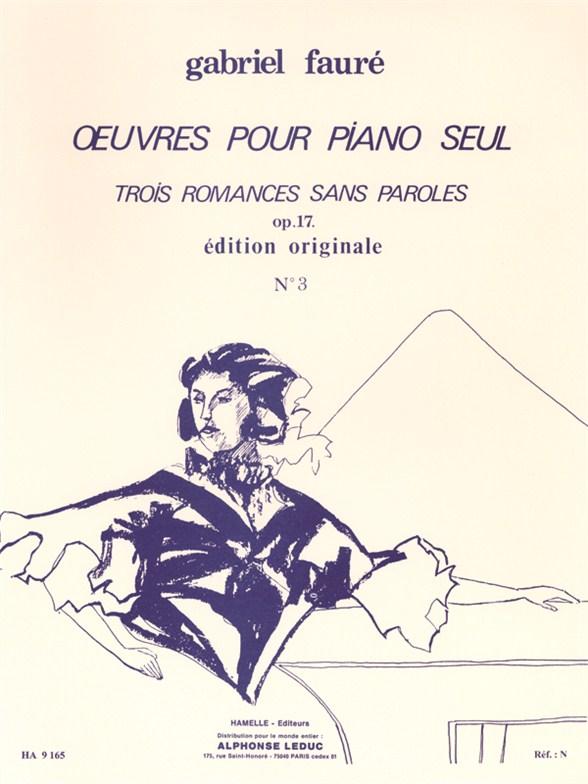 Gabriel Fauré: Romances Sans Paroles Op.17 No.3 In A Flat: Piano: Instrumental