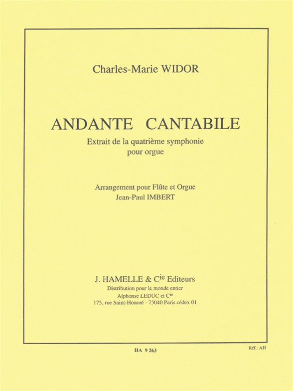 Charles-Marie Widor: Charles Marie Widor: Andante cantabile: Flute: Instrumental