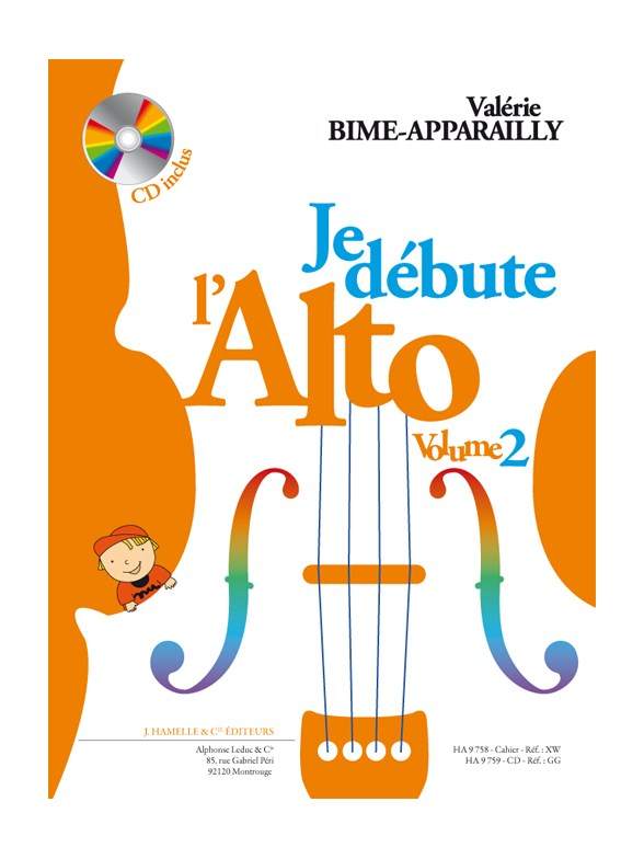 Valerie Bime-Apparailly Apparailly: Je Débute l'Alto - vol. 2: Viola: