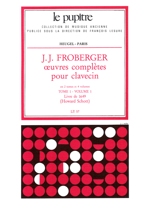 J.J. Froberger: Oeuvres Completes pour Clavecin - Vol.1 (Lp57)