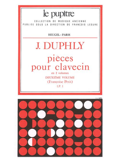 Jacques Duphly: Pieces pour Clavecin Vol.2 (Lp1) (Harpsichord Solo)