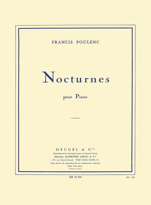 Francis Poulenc: 8 Nocturnes: Piano: Instrumental Album