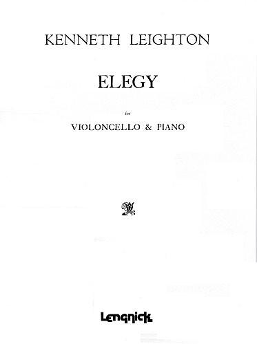 Kenneth Leighton: Elegy: Cello: Instrumental Work