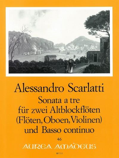 Alessandro Scarlatti: Trio a tre C minor: Treble Recorder: Score and Parts