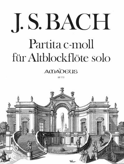 Johann Sebastian Bach: Partita C Bwv1013: Treble Recorder: Instrumental Work
