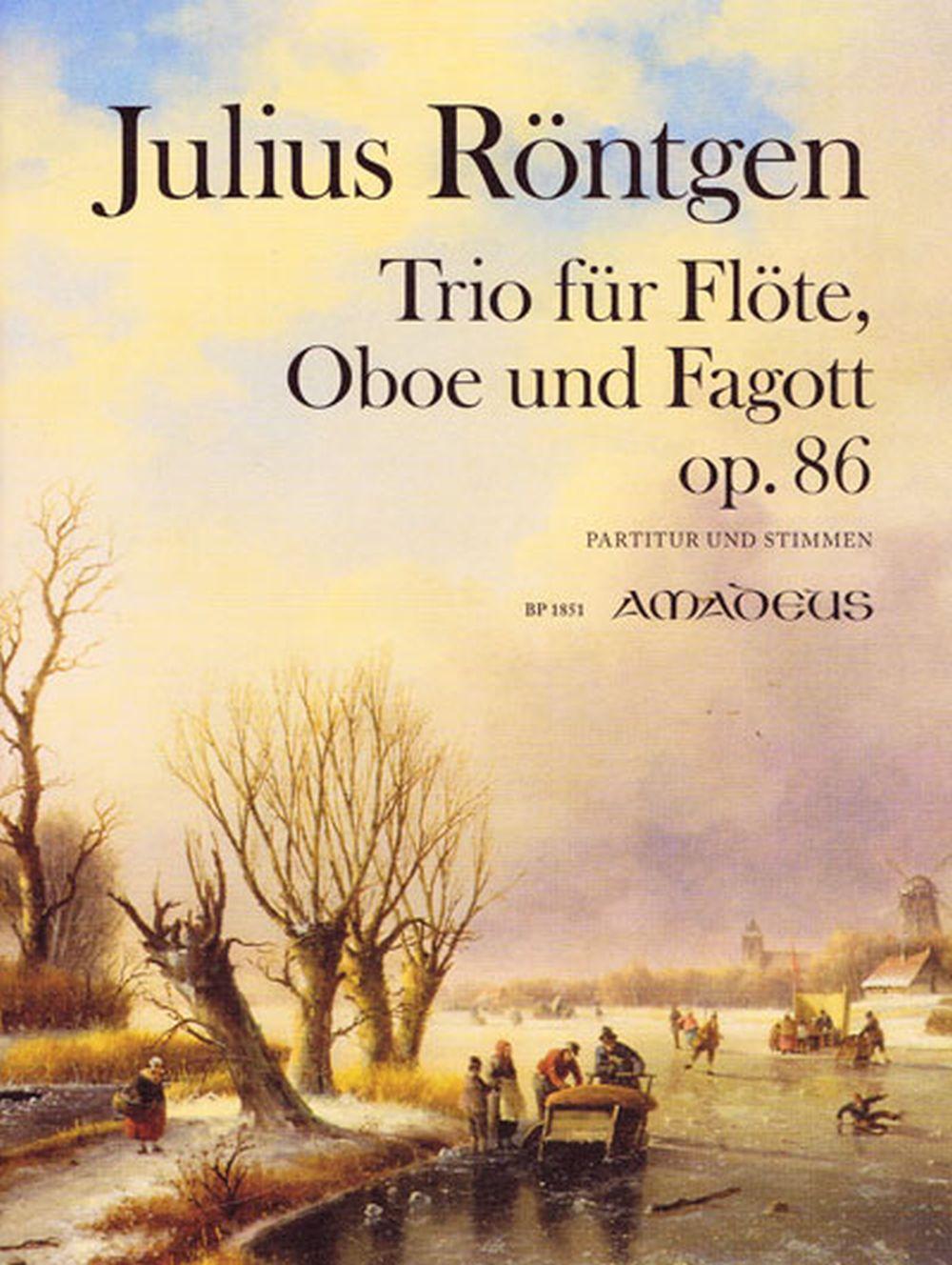 Julius Röntgen: Trio in G Major Op. 86: Mixed Trio: Score and Parts