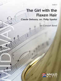 Claude Debussy: The Girl with the Flaxen Hair: Concert Band: Score & Parts