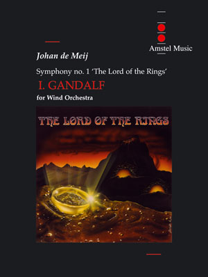 Johan de Meij: The Lord of the Rings (I) - Gandalf: Concert Band: Score and