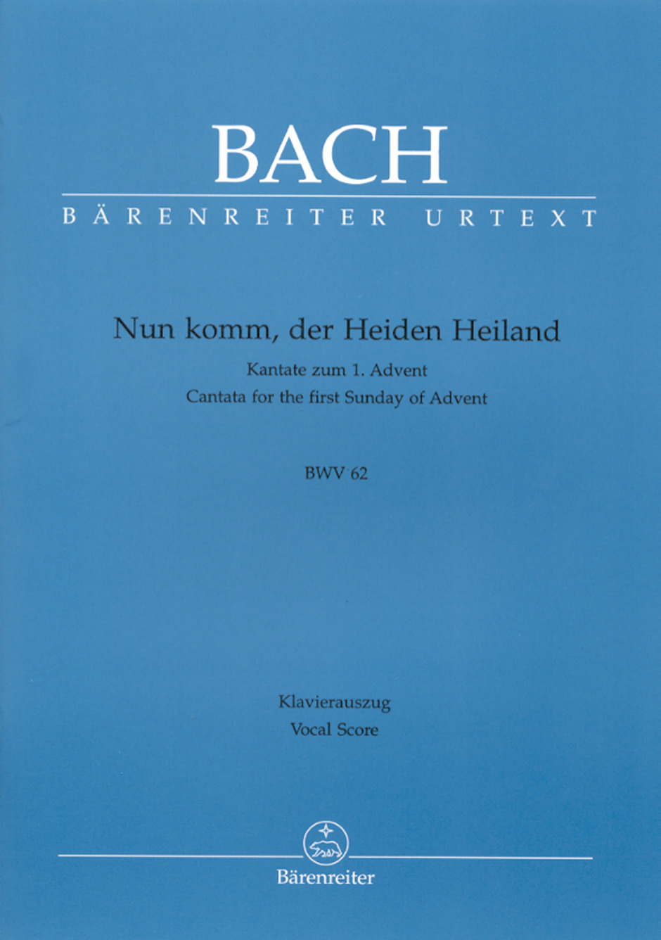 Johann Sebastian Bach: Cantata BWV 61 Nun Komm: Mixed Choir: Vocal Score