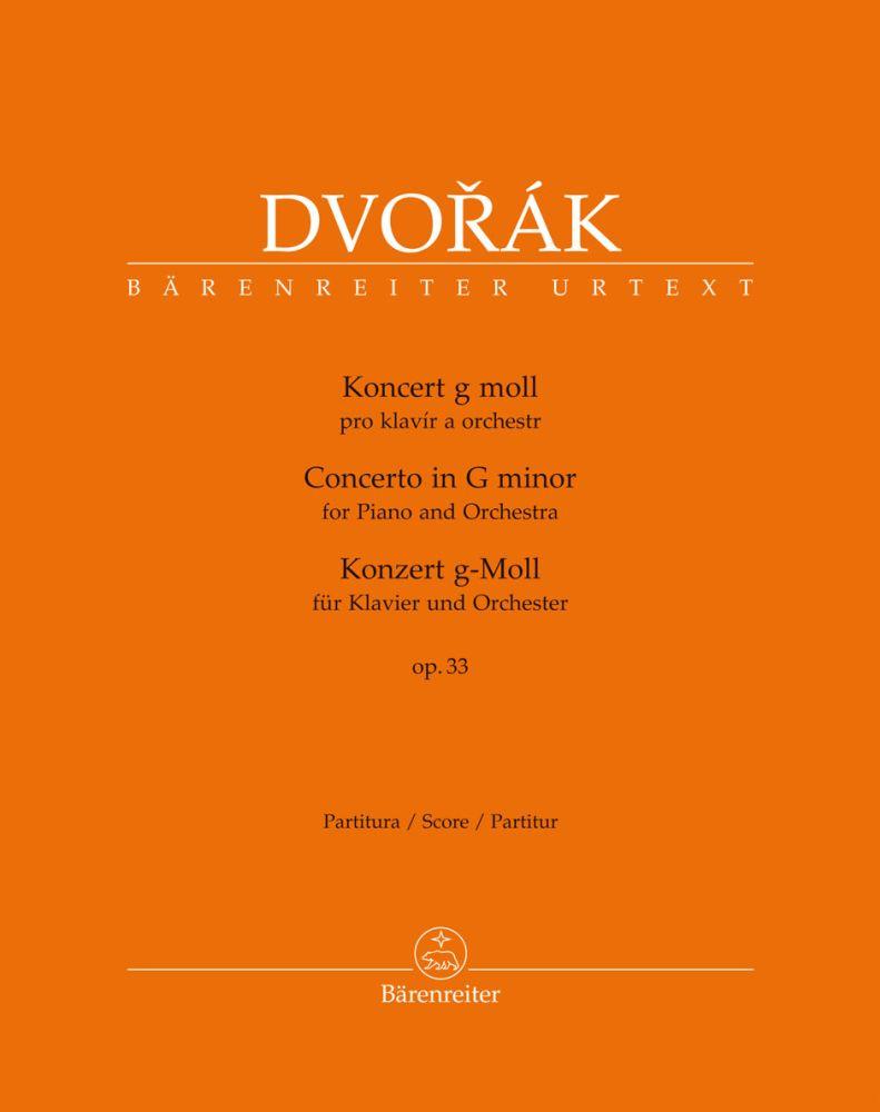 Antonín Dvo?ák: Piano Concerto In G Minor Op.33 (Full Score): Piano: Score