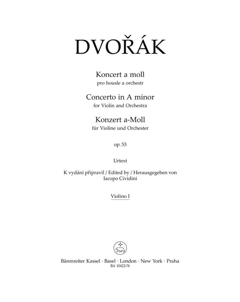 Antonín Dvo?ák: Violin Concerto in A minor Op.53: Violin: Part
