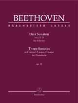 Ludwig van Beethoven: Three Sonatas Op. 10: Piano: Instrumental Work