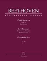 Ludwig van Beethoven: Two Sonatas In G minor  G major op. 49: Piano: