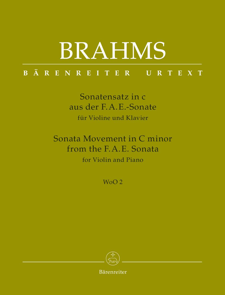 Johannes Brahms: Sonata Movement in C minor from the FAE-Sonata: Violin: